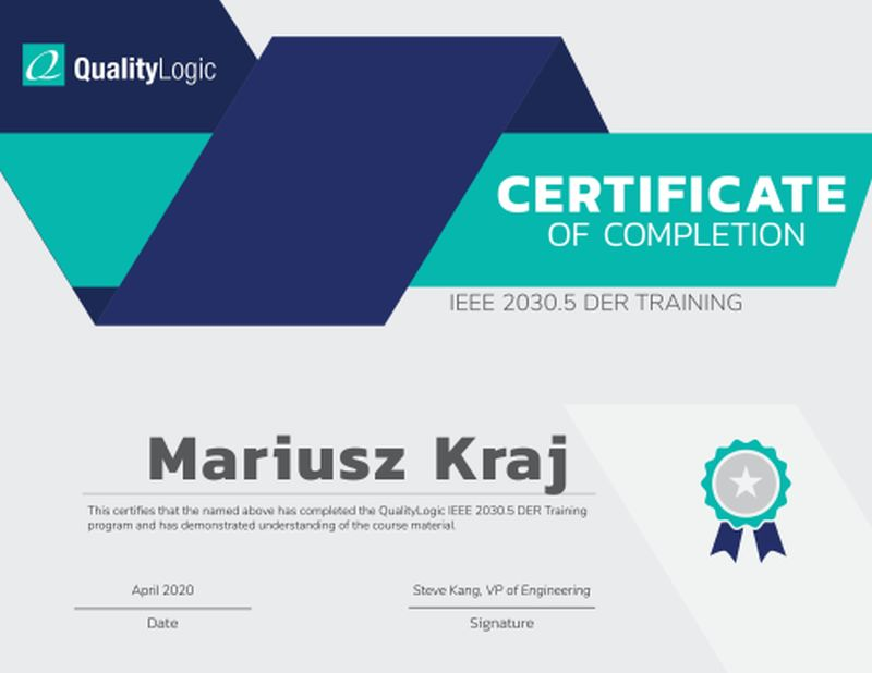 certificate_IEEE 2030.5_codiblyMariusz_Kraj
